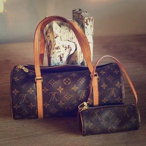 Louis Vuitton Papillon and mini Papillon
